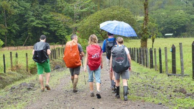 sous la pluie Cerro Chato