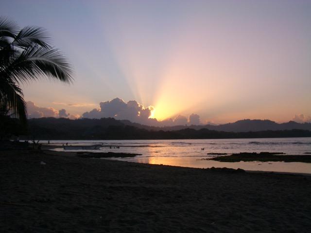 coucher de soleil pacifique