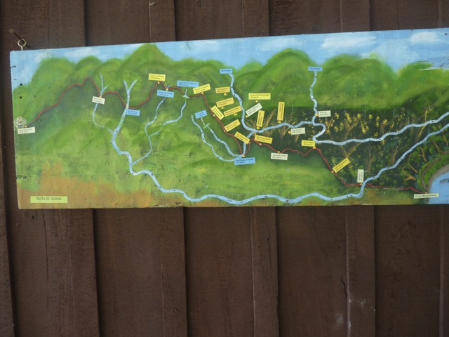 carte randonnées cordillera talamanca